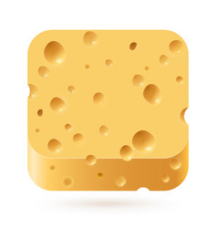cheese icon on white background for creative vector image