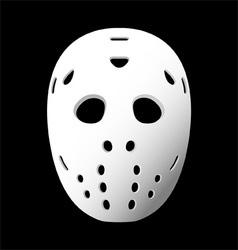 goalie mask vector image vector image