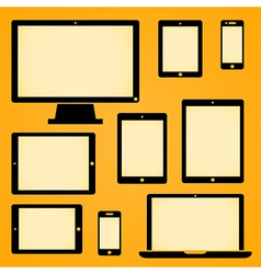 Mobile Device Symbols vector image vector image