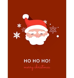 Santa claus on christmas card vector image vector image