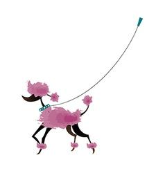 A walking dog vector