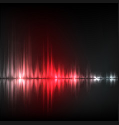 Abstract equalizer background red wave vector