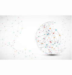 abstract technology sphere background global vector image