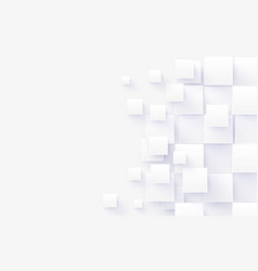 abstract white rectangles digital hi tech concept vector image