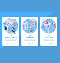 Air cleaners vertical banners vector