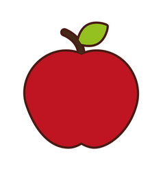 Apple fresh isolated icon vector