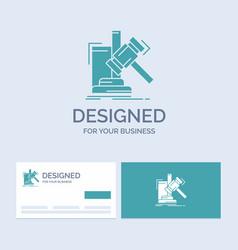 Auction gavel hammer judgement law business logo vector
