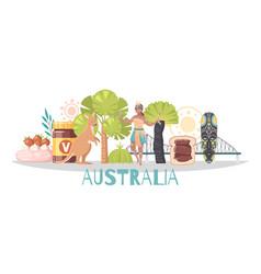 Australia cartoon composition vector
