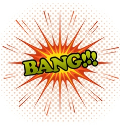 Bang comic cartoon vector