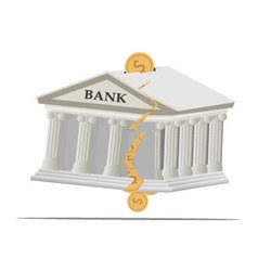Bank broken2 vector