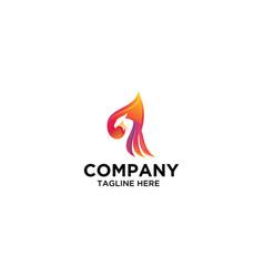 Bird logo design colorful eagle logo stock vector