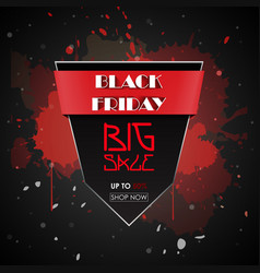 black friday sale promotional poster vector image