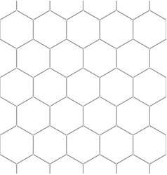 black honeycomb graphic seamless pattern over vector image