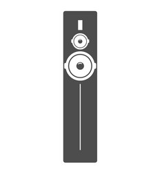 black tall acoustic sound system or loudspeaker vector image