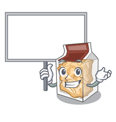 Bring board pork rinds isolated in cartoon vector