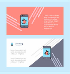 Bug on a smartphone abstract corporate business vector
