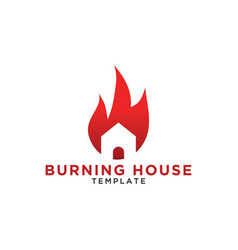 burning house logo design template vector image