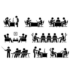 Businessman business meeting conference and vector