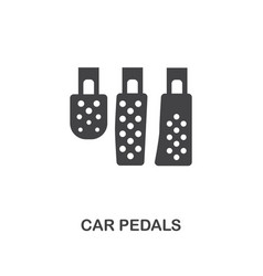Car pedals creative icon simple element vector