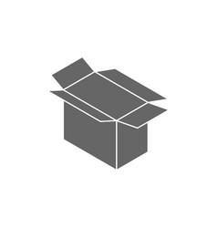 cardboard box open icon sign vector image