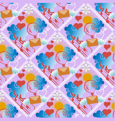 cartoon doodle decorative seamless pattern vector image