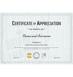 Certificate Appreciation Wood texture vector