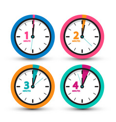 clock icons set time symbol vector image