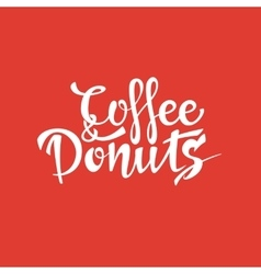 Coffee and donuts sign vector