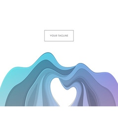 Colored waves design template vector image