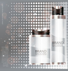 Cosmetic bottle on silver background vector