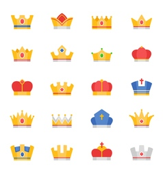 Crown color icons vector image