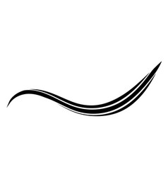 Curved smooth lines in the form of a wave wave vector