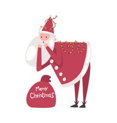 cute santa claus funny christmas character vector image