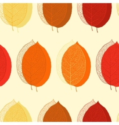 Cute seamless leaf autumn pattern in vector image