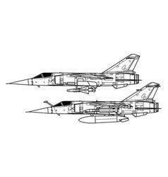 Dassault mirage f1 vector