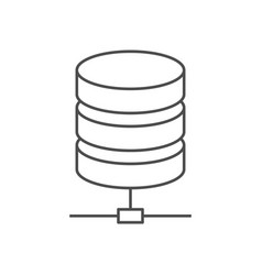 data storage line icon vector image