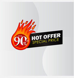 Discount up to 90 off hot offer special price vector