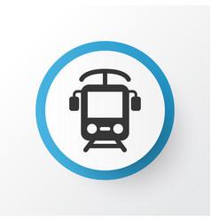 electric train icon symbol premium quality vector image