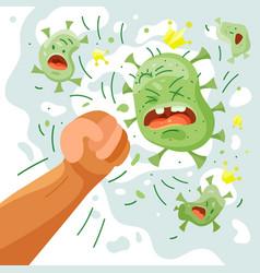 Fight covid-19 corona virus cure corona virus vector
