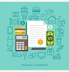 Financial Statement Conceptual Flat Style vector image