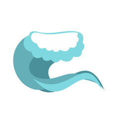 foamy wave icon cartoon style vector image
