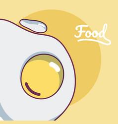 Fried sunny egg concept cartoon vector