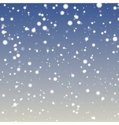 Fuzzy snowflakes fallig vector