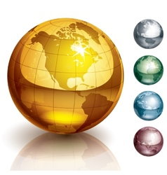 globes vector image vector image