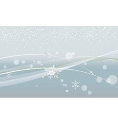 Gray christmas background with snowflakes and vector image