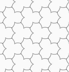 Gray dotted three pedal pointy flower grid vector