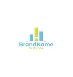 H finance logo design vector