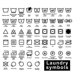 Icon set laundry symbols vector