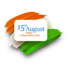 independence day of india 15th august card with vector image