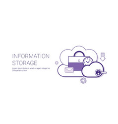 information storage database cloud technology vector image